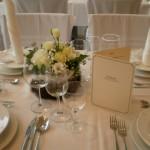 Tischdeko bei Hochzeitsfeier
